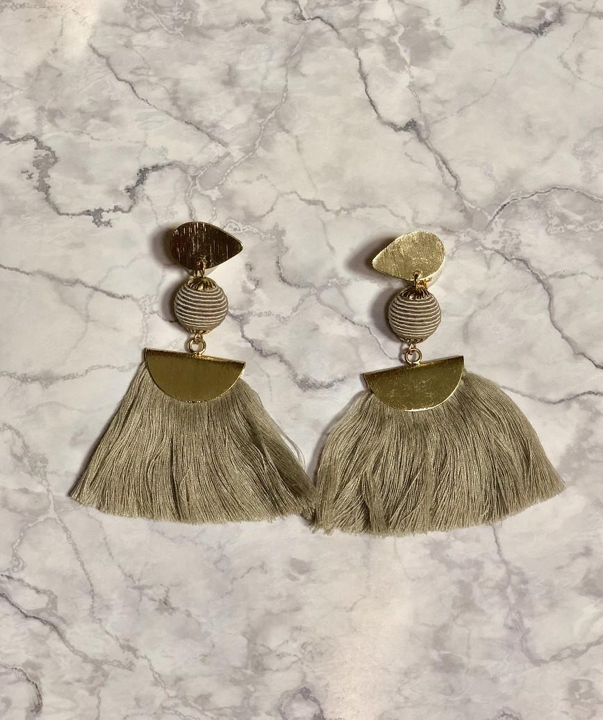 Fringe Long Earrings