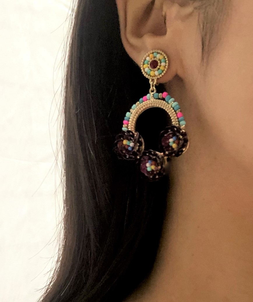 Beads round multi Earrings