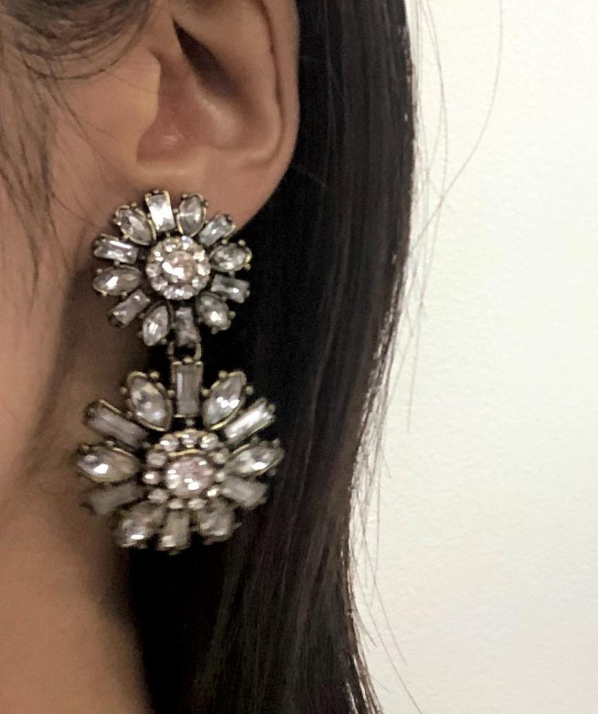 Crystal bijou flower Earrings