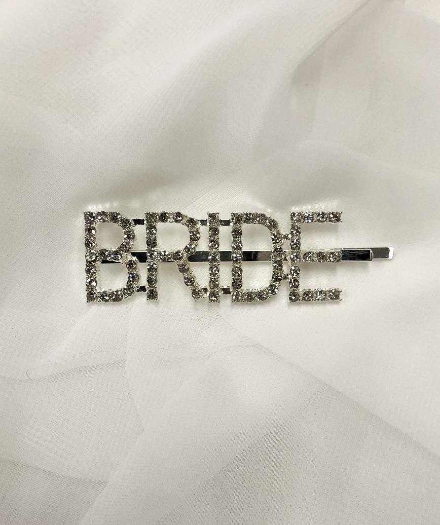 """【販売商品】レターピン""""BRIDE""""-シルバー"""
