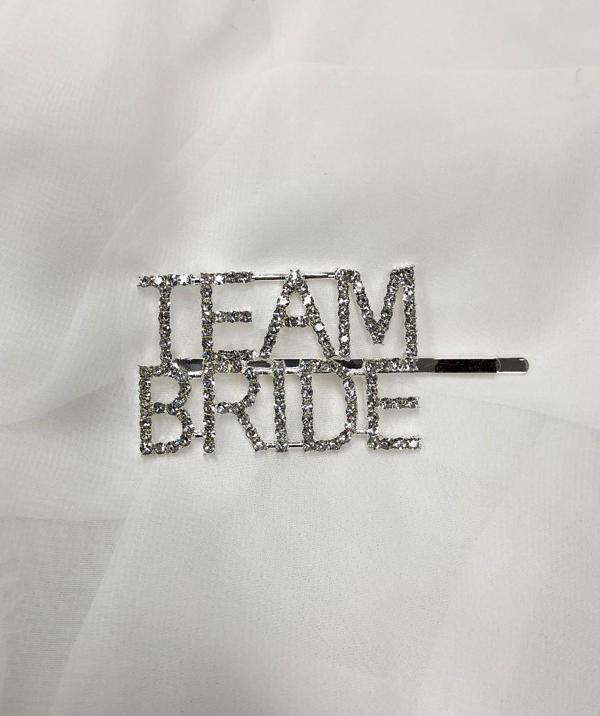 """【販売商品】レターピン""""TEAM BRIDE""""-シルバー"""