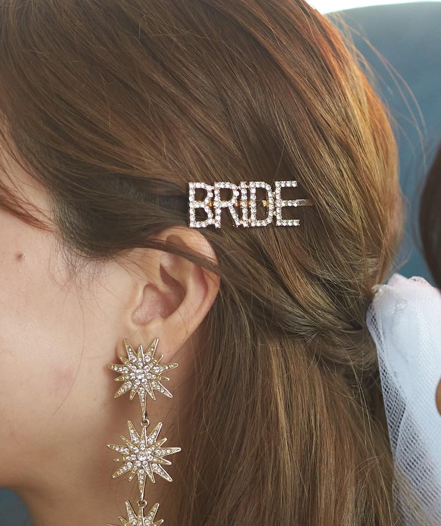 """【販売商品】レターピン""""BRIDE""""-ゴールド"""