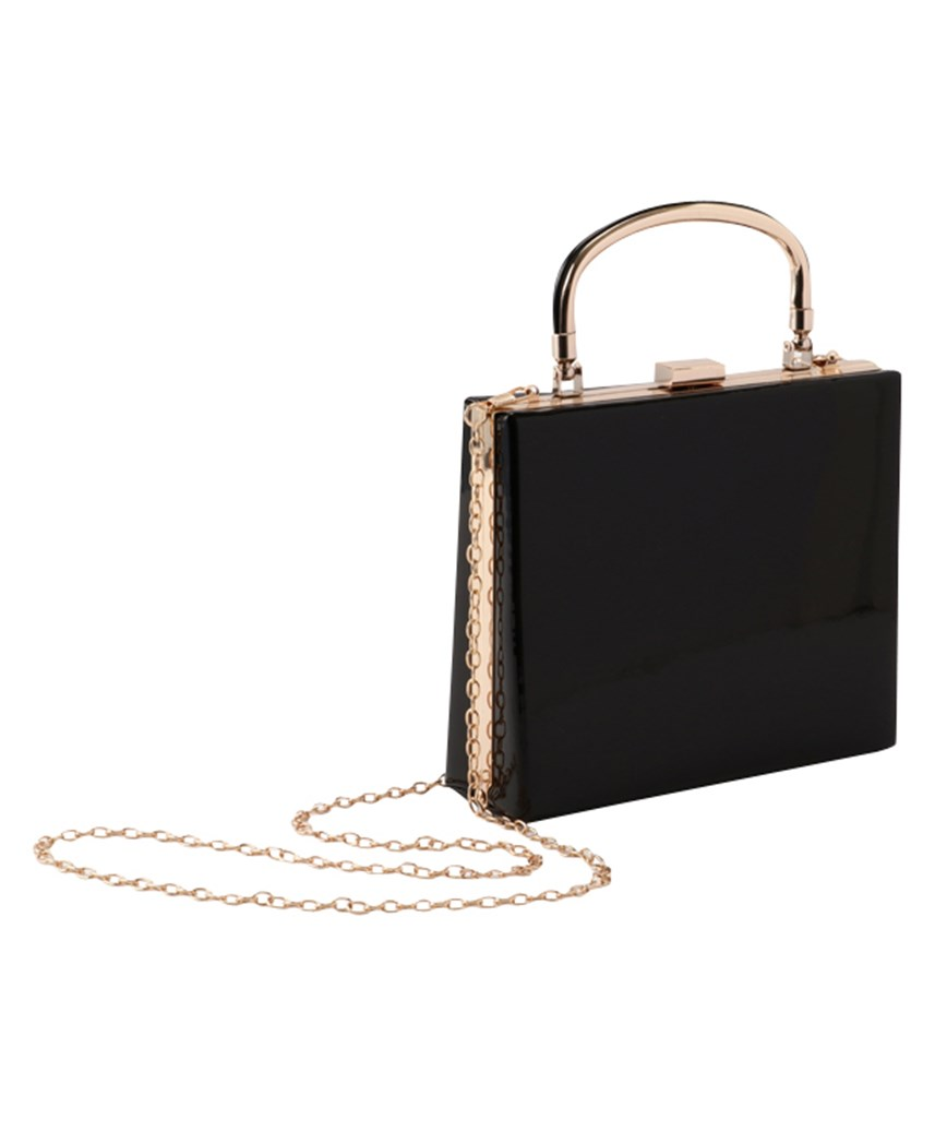 Gloss Black Handbag