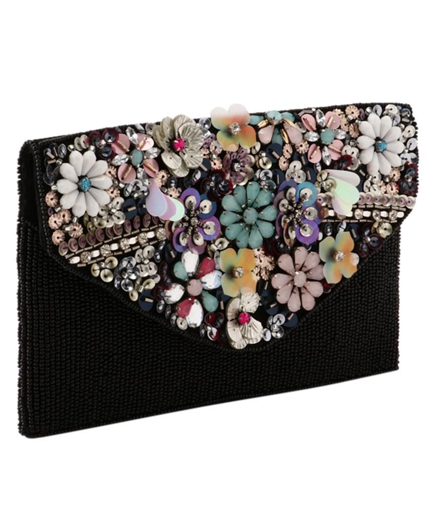 Flower Bijou Clutch bag