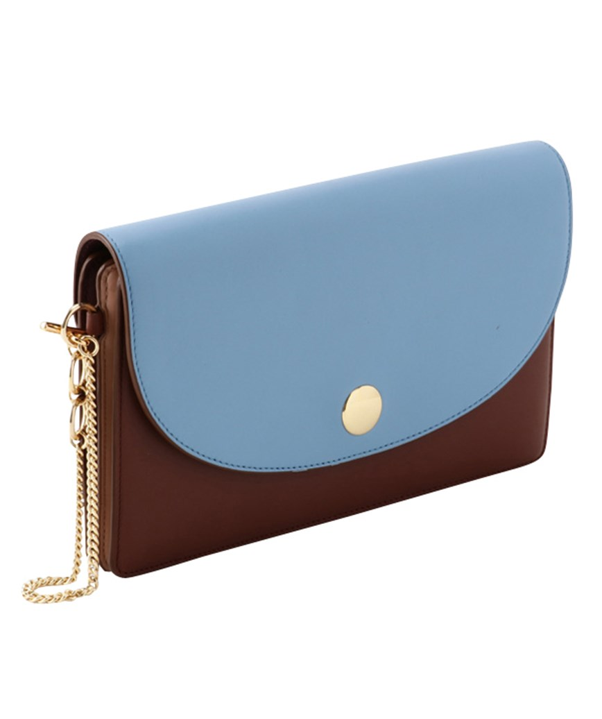 Blue Brown Clutch bag