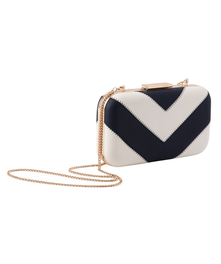 Stripe Clutch bag