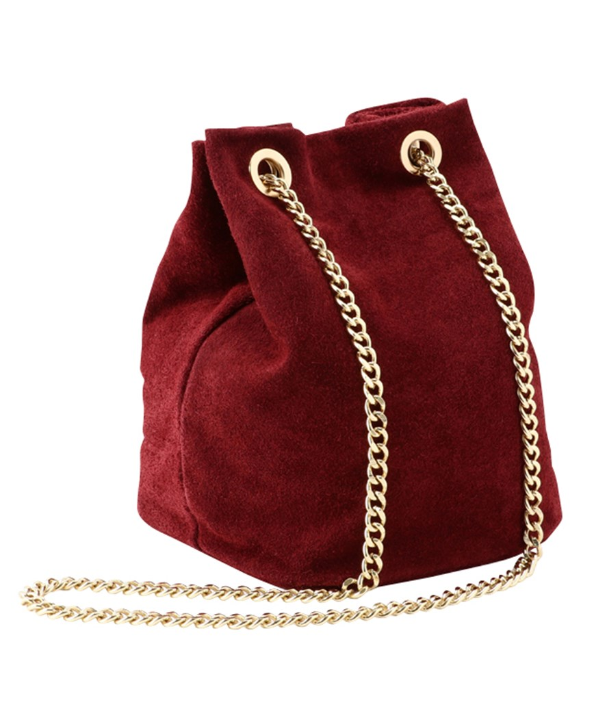 Red Suede Purse