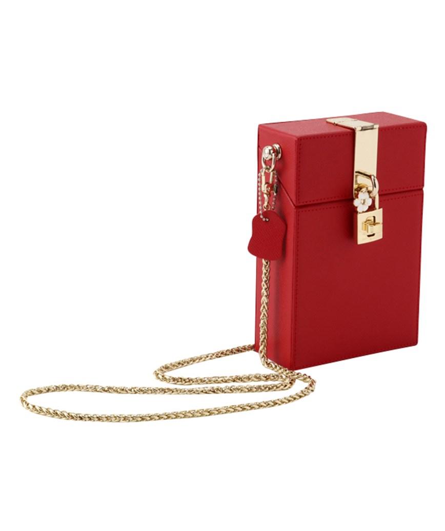 Redo Leather Box Clutch bag