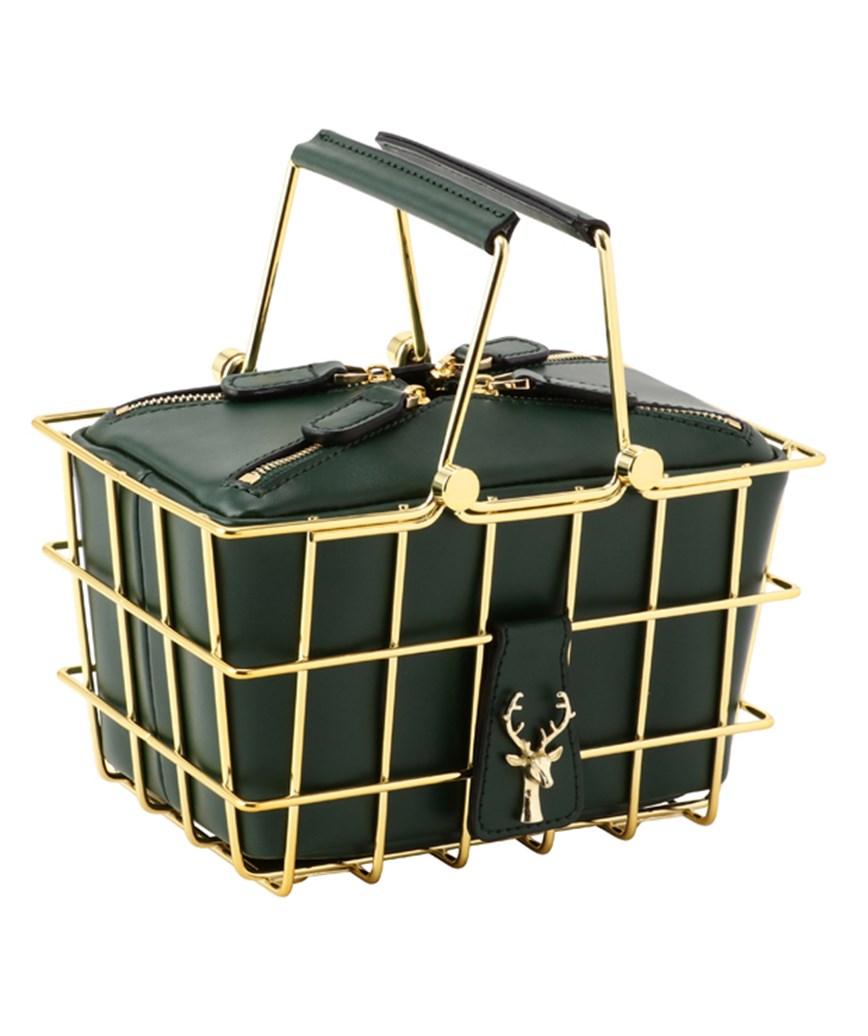 Green Basket Clutch bag