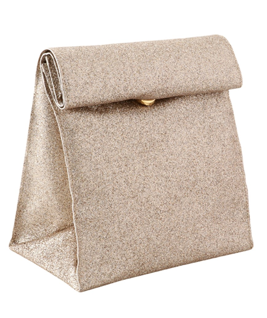 Square Gold Clutch bag