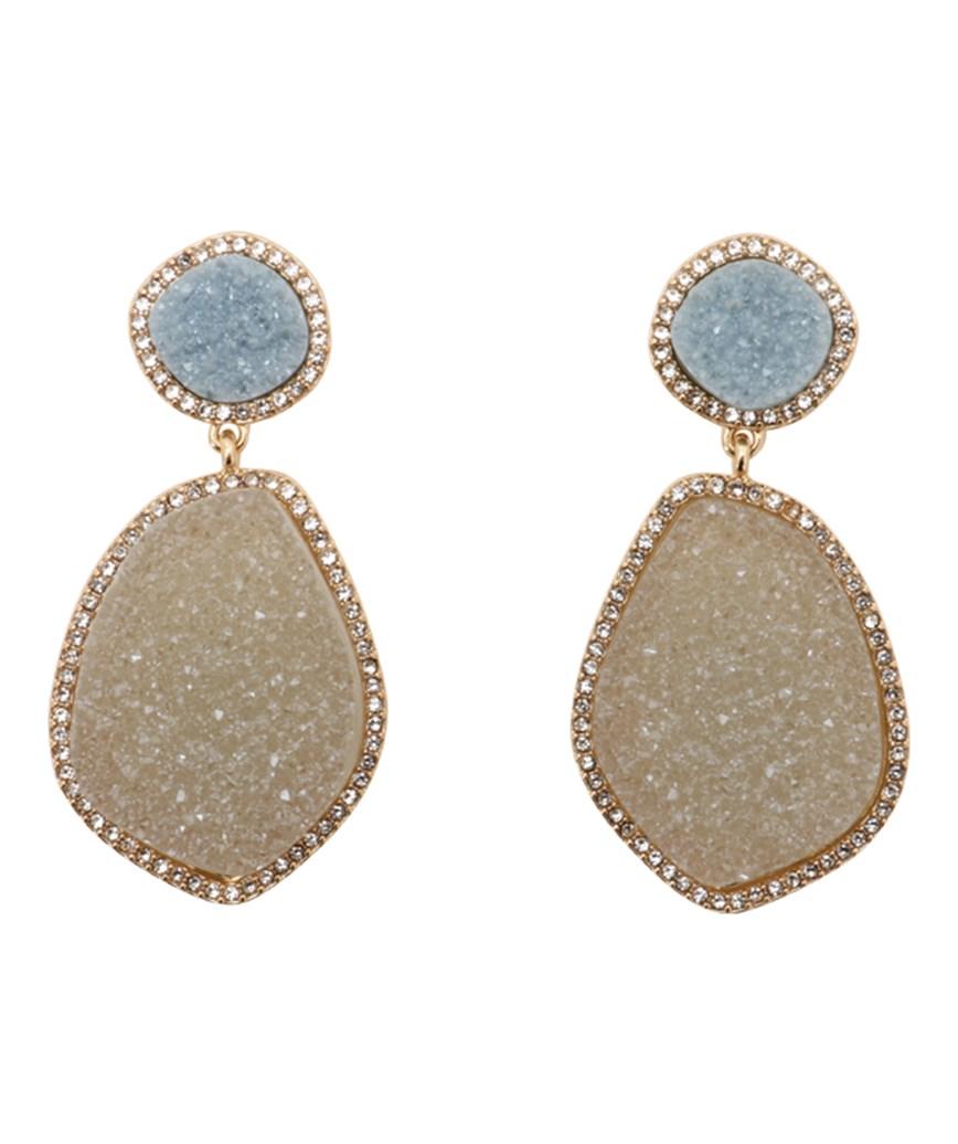 Stone Drop Earrings