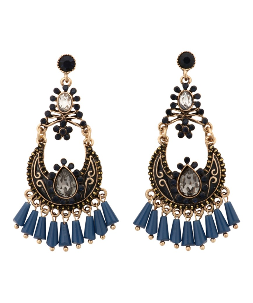 Antique Blue Earrings