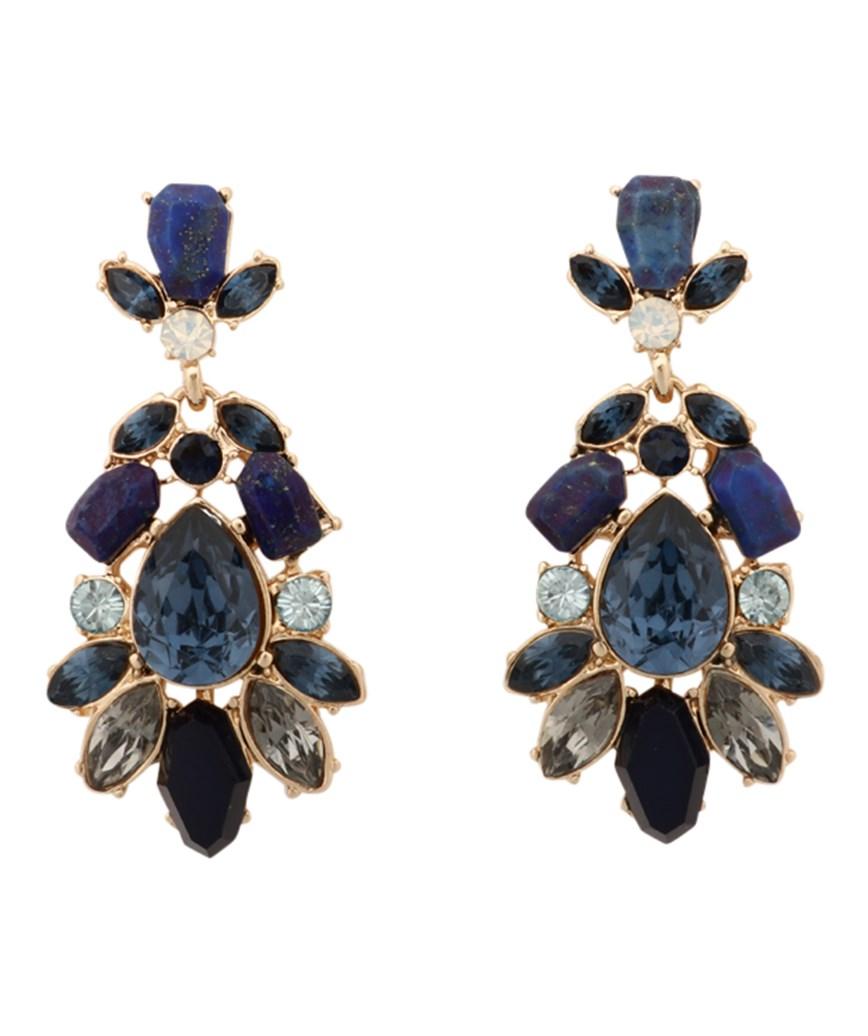 Blue Bijou Earrings