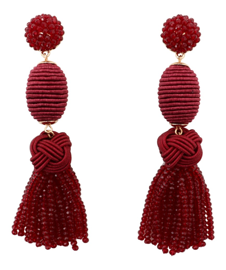 Crystal Tassel long Earrings