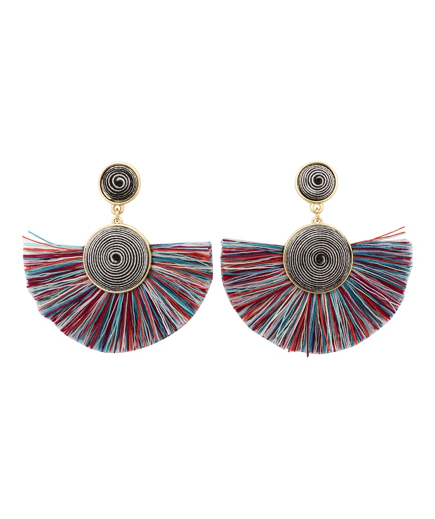 Semicircle Fringe Earrings