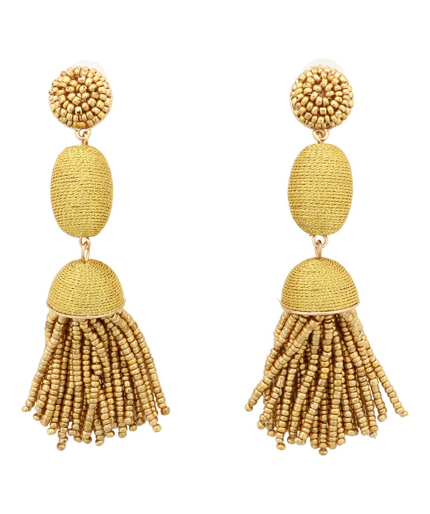 Tamsin Drop Earrings - Yellow
