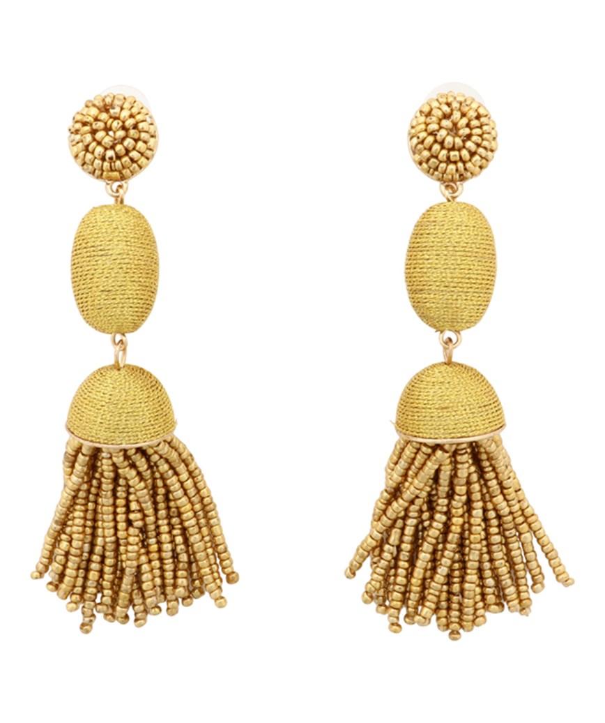 Tamsin Drop Earrings - Yellow