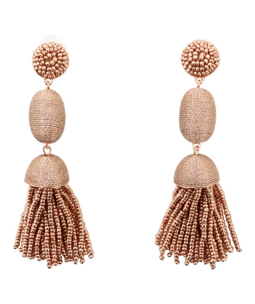 Tamsin Drop Earrings - Pink gold