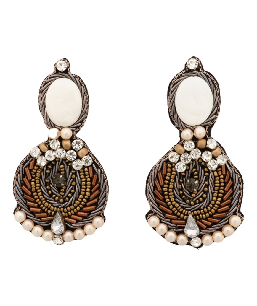Gold Velvet Earrings