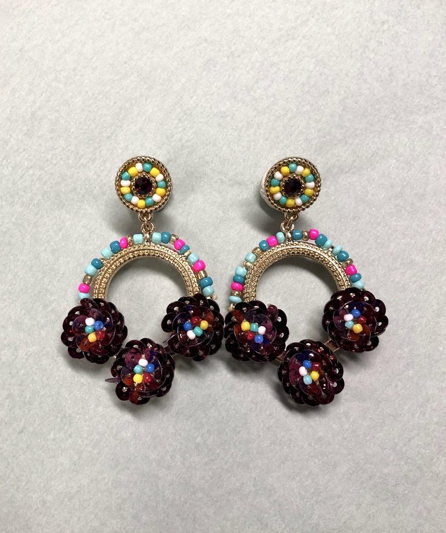 Beads round multi Earrings