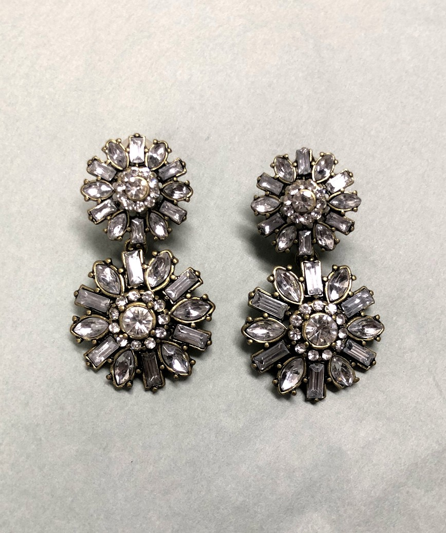 Crystal bijou flower Earrings