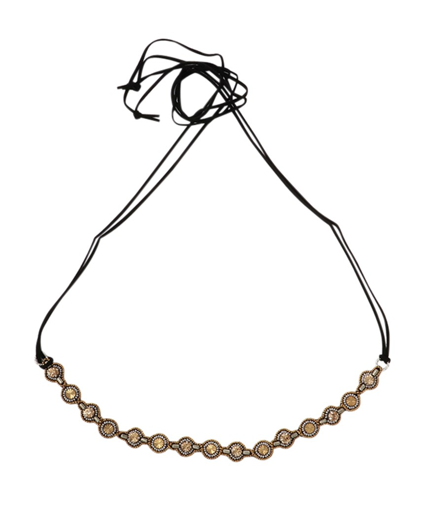 3WAY Belt/Choker/Headband BLACK×GOLD