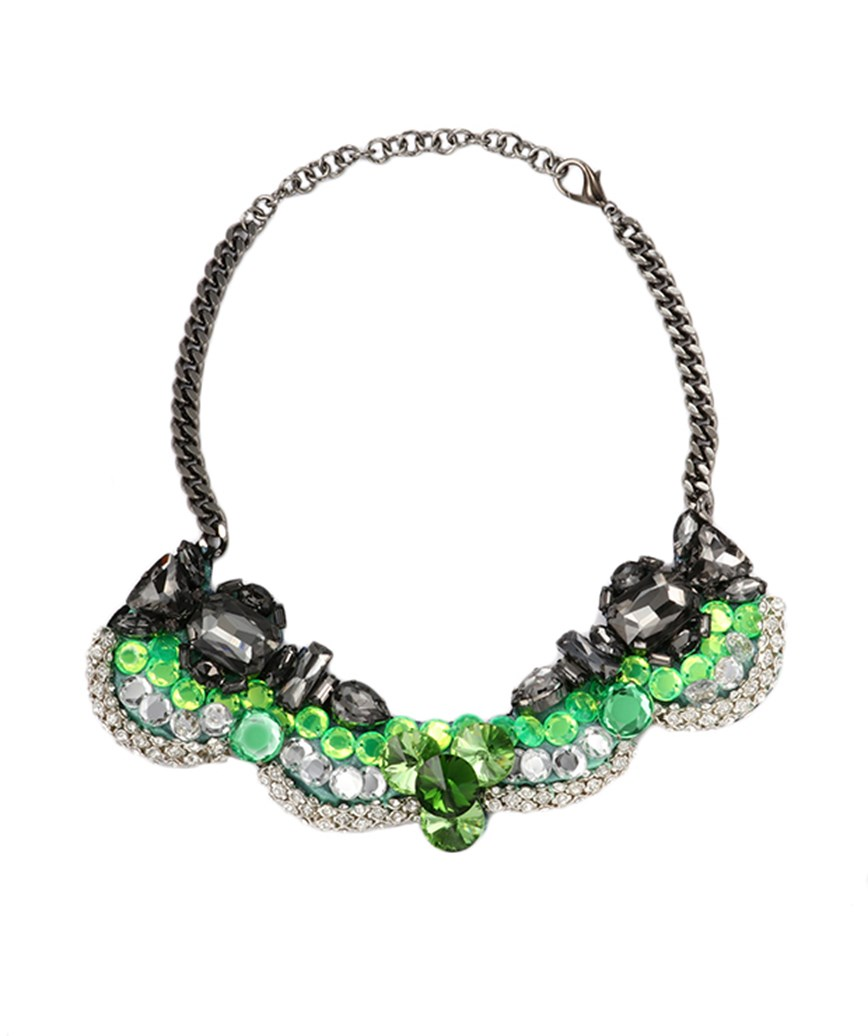 GREEN×BLACK NECKLACE